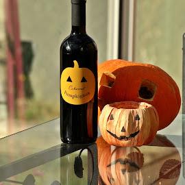 Halloween vine by Ciprian Apetrei - Public Holidays Halloween ( still life, vine, pumpkins, brittany, halloween )