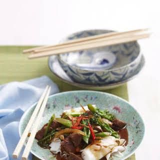 Lamb Stir Fry with Rice Noodles.