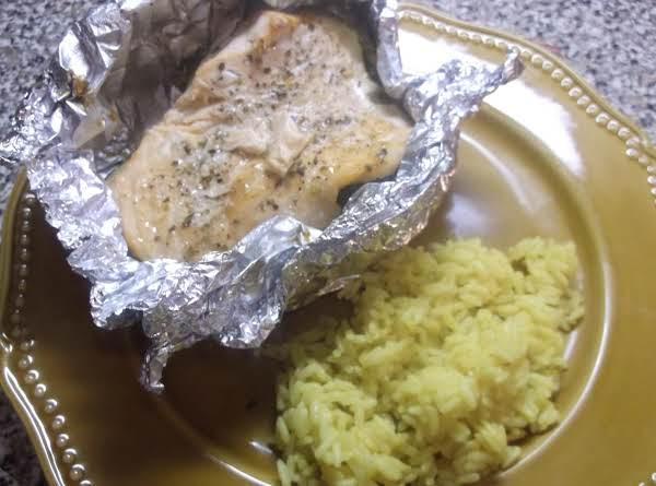 Baked Salmon In Foil W/veggies