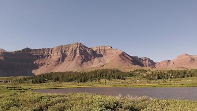 Photo: Looking back towards Flat Top Mountain