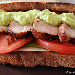 Grilled Pork Tenderloin Sandwich with Roasted Peppers