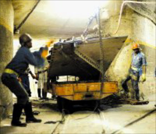 RISKY BUSINESS: Three more deaths at mines over the weekend increased the number of fatalities at mines this year to 201. Pic. Marianne Schwankhart. © Sunday Times.