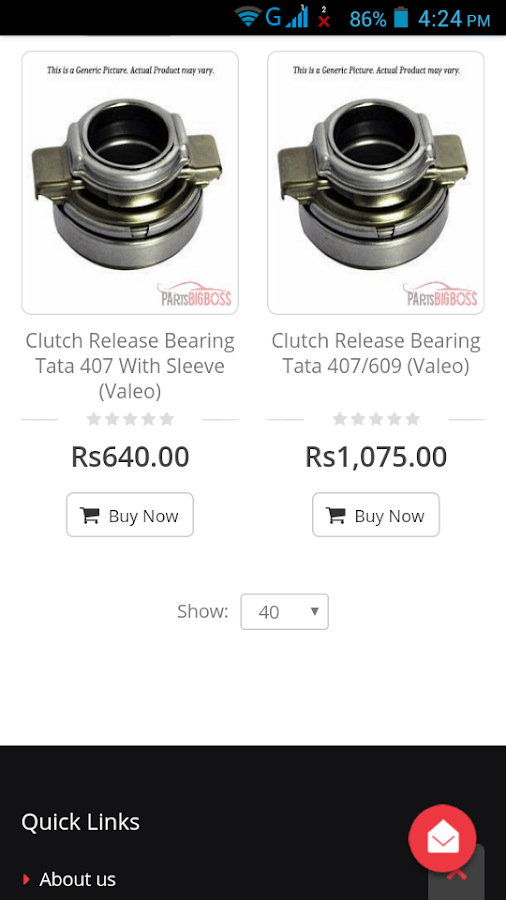 Auto Parts India- screenshot