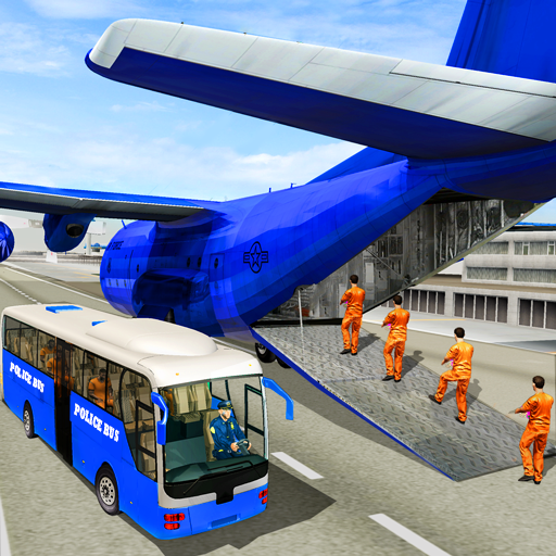 US Police Transport Plane: Jail Prisoner Bus Drive Android APK Download Free By Jockey Games