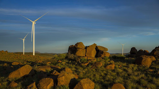 Noupoort Wind Farm, one of the 22 wind farms that will continue generating power during the lockdown period.