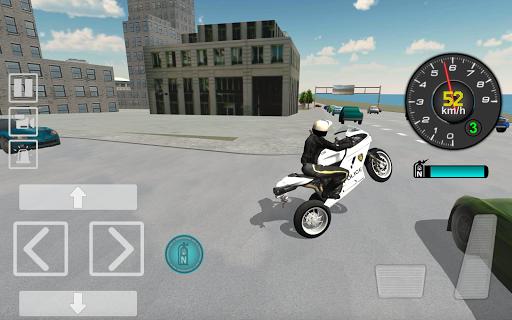 Police Motorbike Driving Simulator apktram screenshots 1