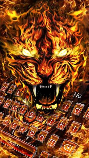 Grim Fire Tiger Keyboard Theme 10001003 screenshots 3