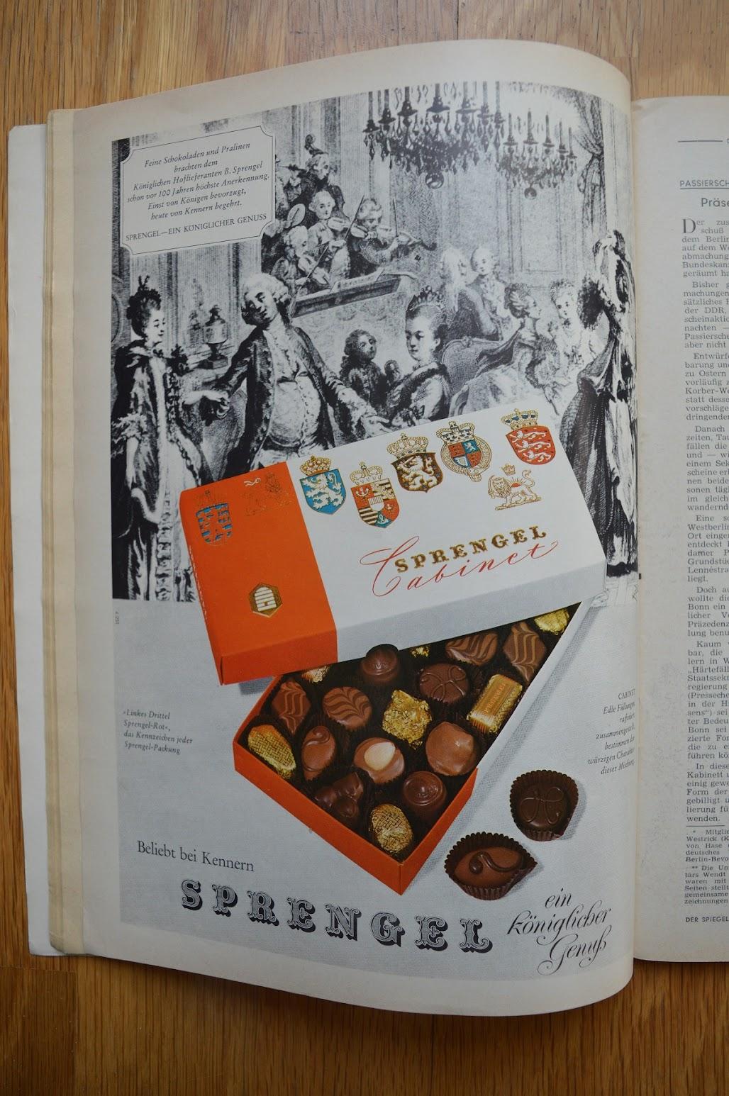 DER SPIEGEL, 29. April 1964 - Werbung für Pralinen