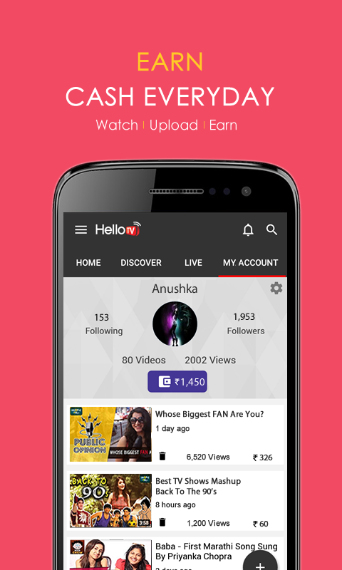 HelloTV -Watch | Upload | Earn- screenshot