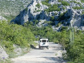 Photo: Met jeeps naar 900 m in het het Nationaal Park Paklenica voor een tocht naar Velika Paklenica