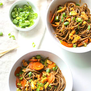 Sesame Soba Noodles with Crispy Tofu.