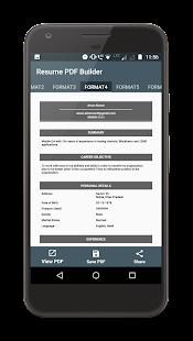 Resume PDF Maker - náhled