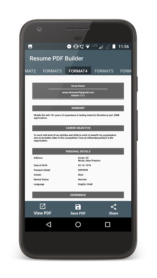 resume pdf maker android apps on play