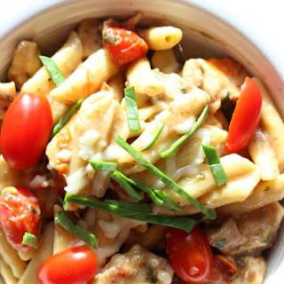 Instant Pot Chicken Margherita Pasta.