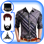 Men Shirt Hair Mustache Beard Sunglass photo maker