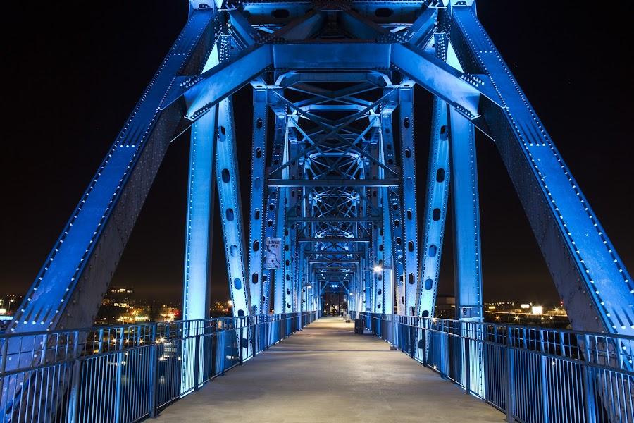 Clinton Bridge  by Patricia Konyha - Buildings & Architecture Bridges & Suspended Structures