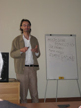 Photo: Our lecturer in Prague.