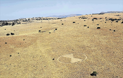 ALIENS? A crop circle, about 50m in diameter, was spotted on the outskirts of a farm near Tarlton, West Rand, on Monday.
