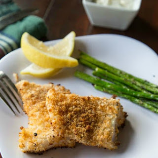 Crispy Fish with Lemon Dill Sauce.