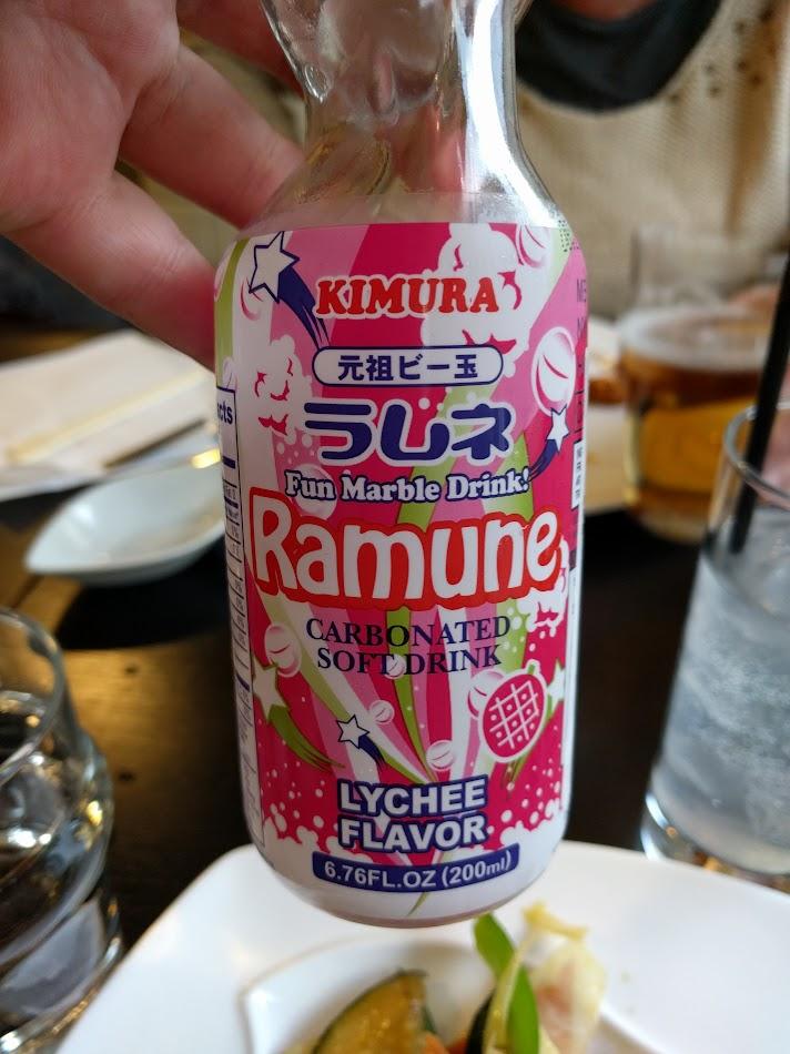 Ramune, en japansk läsk med smak av Lychee. Kostade 35 kr. Dyrt men väl värt pengarna!