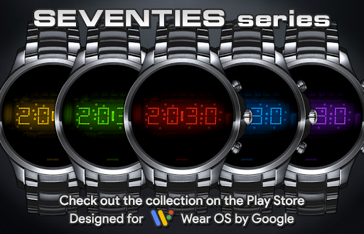 Download LED watch face | Vintage | Seventies Amber MOD APK 7
