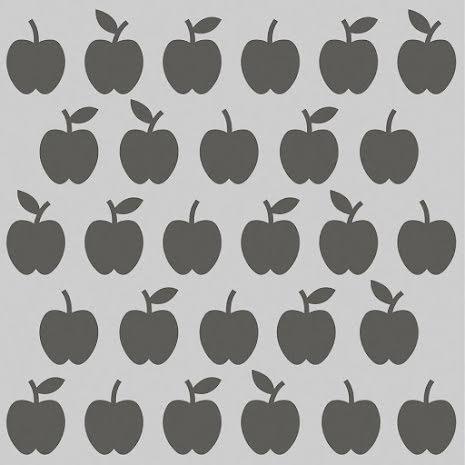 Simple Stories School Life Stencil 6X6 - Apples