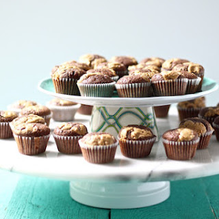 CHOCOLATE PEANUT BUTTER BROWNED BUTTER MINI CUPCAKES