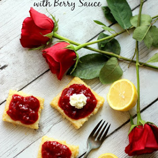 Valentines Day Lemon Bars With Berry Sauce