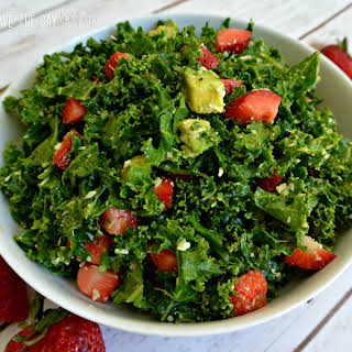 Strawberry Avocado Kale Salad.