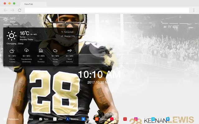 New Orleans Saints HDNew Tab NFL Themes