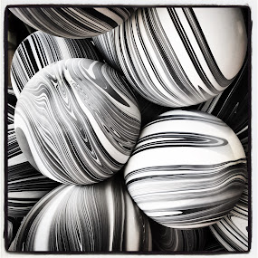 Balloons  by Mary Phelps - Abstract Patterns ( balloons, instagram, black and white, square format, iphone )