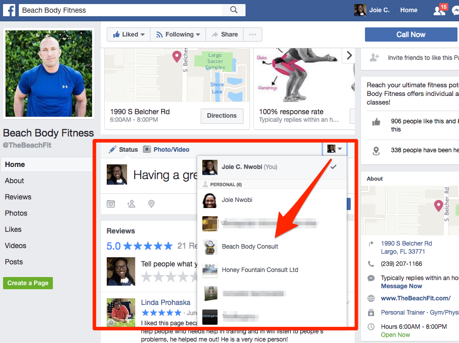 Find you ideal clients on facebook - FB post