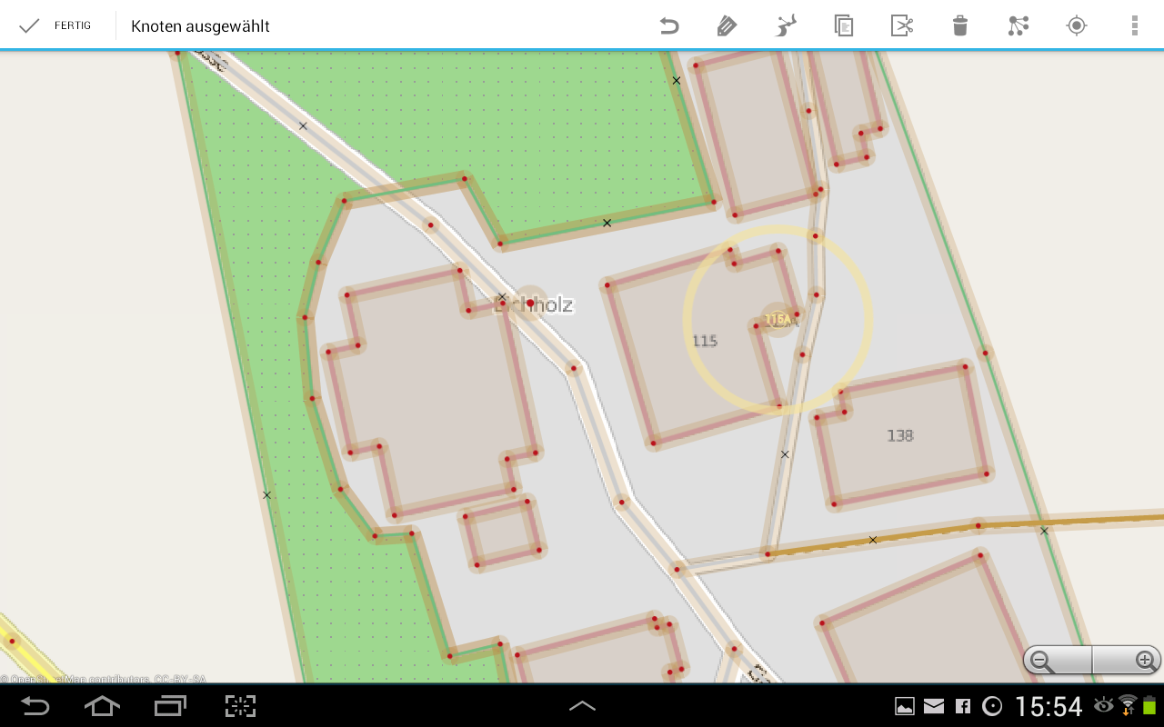 Vespucci OSM Editor- screenshot
