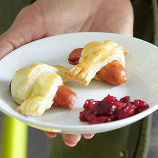 Puff Pastry-Wrapped Mini Hot Dogs.