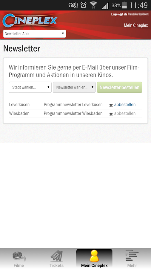 CINEPLEX Kinoprogramm- screenshot