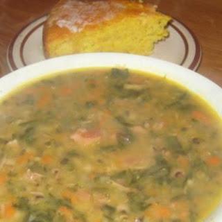 Blackeye Pea and Ham Soup.
