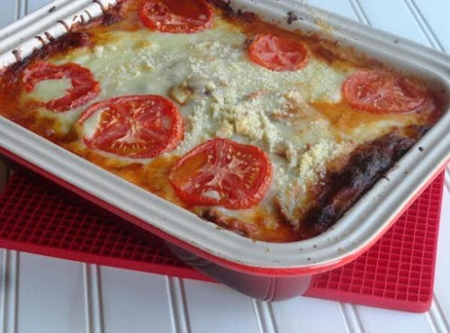 "Zucchini Lasagna Sans Noodles ""The fabulous flavors in this recipe will have..."