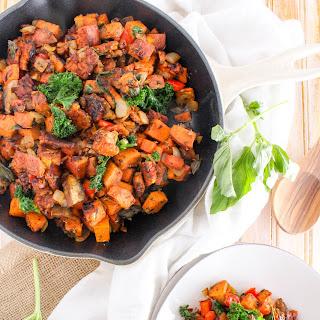 Spicy Tempeh Bacon Sweet Potato Hash.