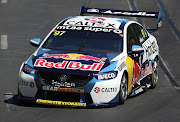 Shane van Gisbergen drives the #97 Red Bull Holden Racing Team Holden Commodore ZB during the qualifying session for race two of round one of the 2020 Supercars Championship the Adelaide Superloop on February 23, 2020 in Adelaide, Australia.
