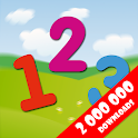 Mathematics and numbers for kids. Learn numbers icon