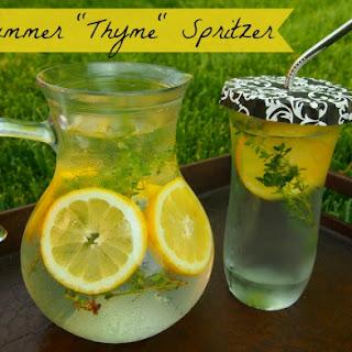 """Summer """"Thyme"""" Spritzer."""