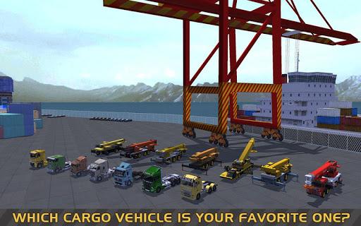 Télécharger gratuit Truck & Crane SIM: Navire cargo APK MOD 1