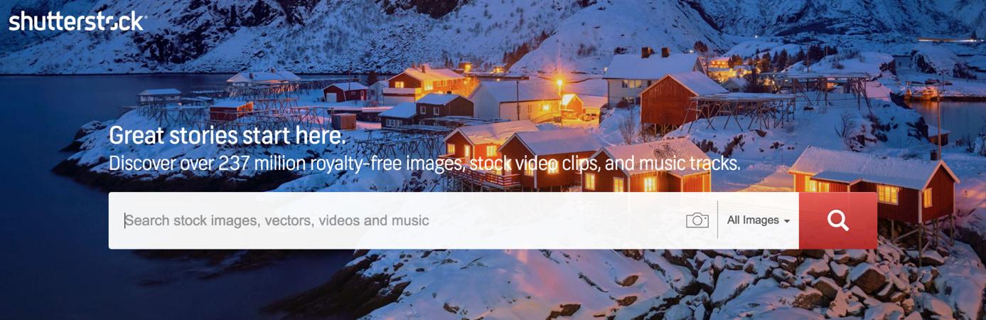 landing-page-essentials-shutterstock nutzt hochwertige Bilder im Landingpage Aufbau