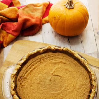 Easy Gluten Free Pumpkin Pie.