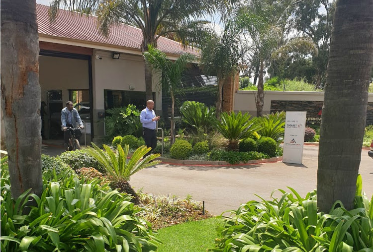 Employees outside Bosasa's offices in Krugersdorp in February as liquidators took over the premises. The high court in Johannesburg set aside the special resolution taken by its directors on February 12 which placed the Bosasa group of companies under liquidation.