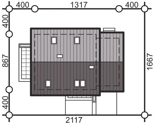 Pinczer 2 z garażem - Sytuacja