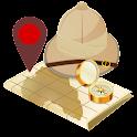 GPS finder, navigation&traffic icon