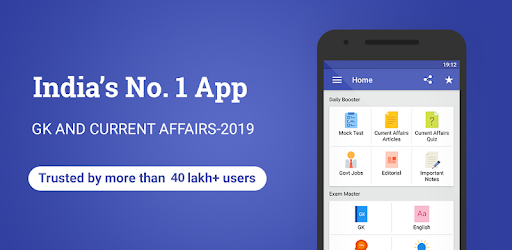 GK & Current Affairs 2019, Railway, SSC, IBPS - Apps on