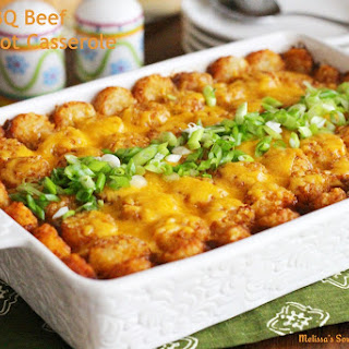 Barbecue Beef Tater Tot Casserole.