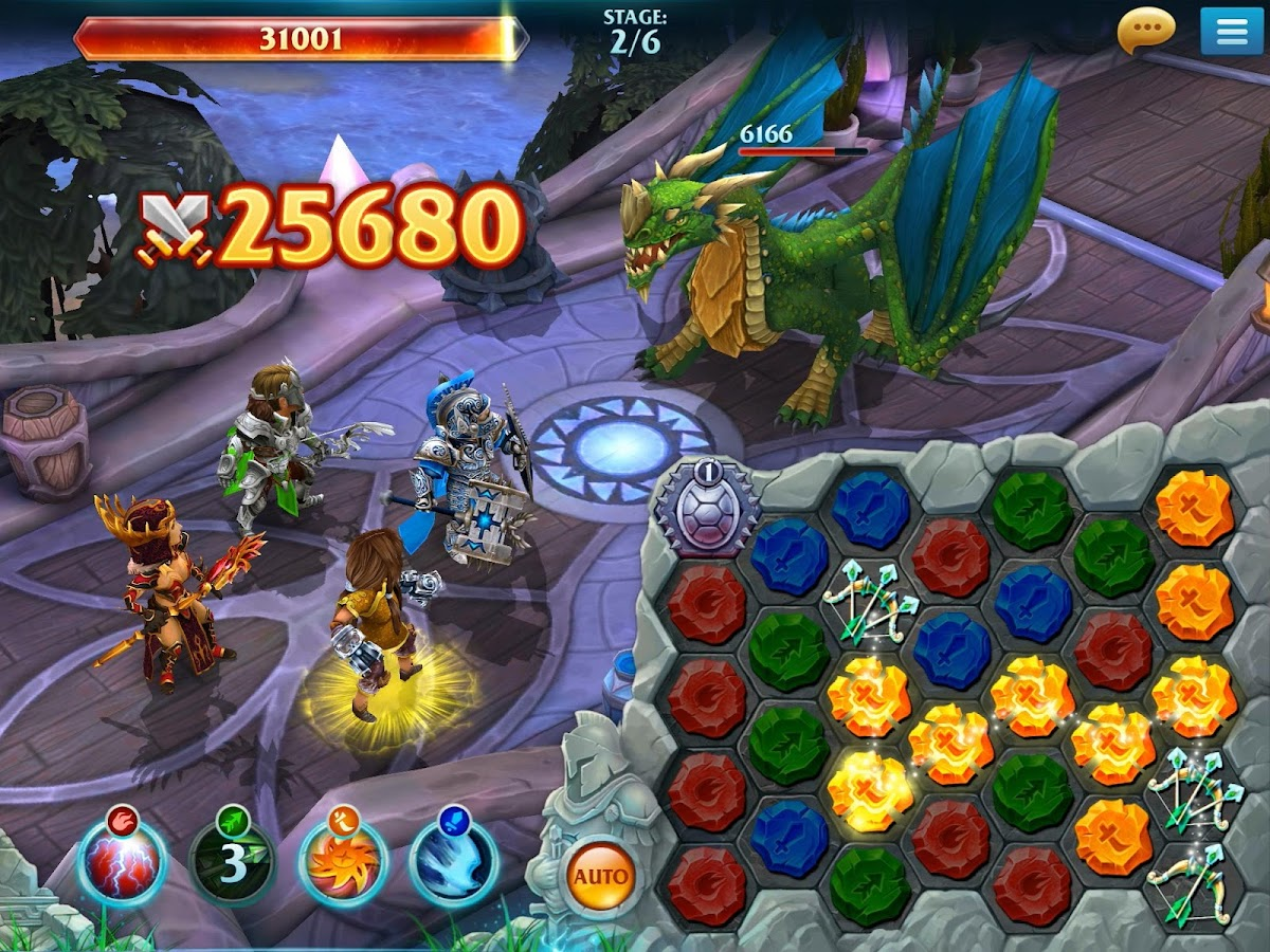 Forge of Glory - Match3 MMORPG- screenshot